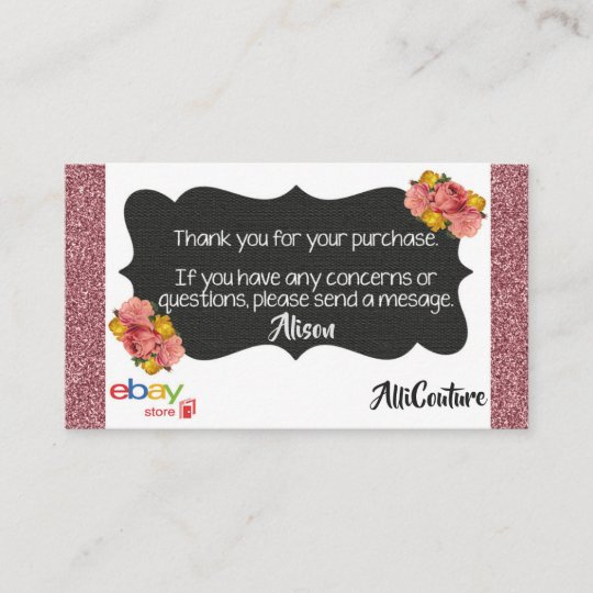 Order of the eastern star business cards zazzle floral ebay store business cards packing slips reheart Gallery