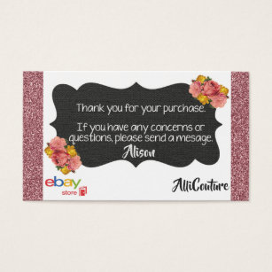 Ebay business cards templates zazzle floral ebay store business cards packing slips reheart Choice Image