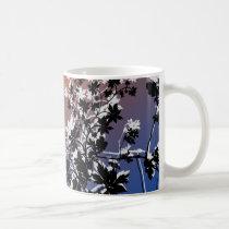 flower, flowers, floral, flora, flourish, garden, nature, art, design, gift, gifts, orange, blue, mug, mugs, Mug with custom graphic design