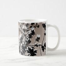 flower, flowers, floral, flora, flourish, garden, nature, art, design, gift, gifts, brown, earthtones, mug, mugs, Mug with custom graphic design
