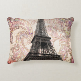 Floral Eiffel Tower Accent Pillow