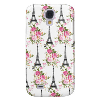 Floral Eiffel Tower Galaxy S4 Covers