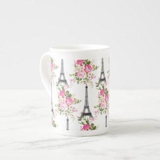 Floral Eiffel Tower Tea Cup
