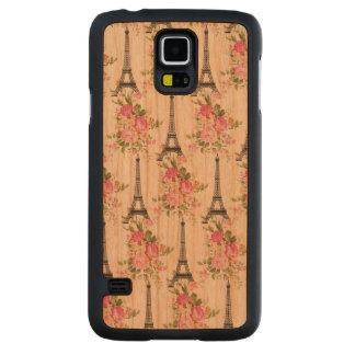 Floral Eiffel Tower Carved® Cherry Galaxy S5 Slim Case