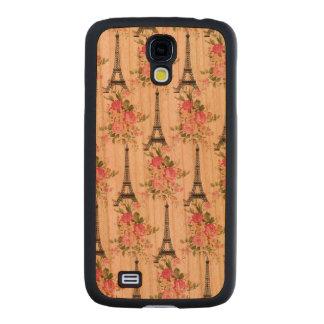 Floral Eiffel Tower Carved® Cherry Galaxy S4 Slim Case