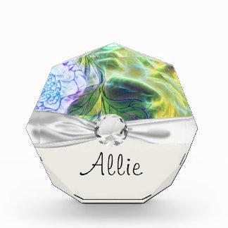 floral electrify funky design acrylic award