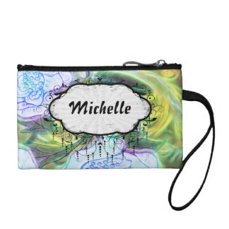 floral electrify funky design coin wallets