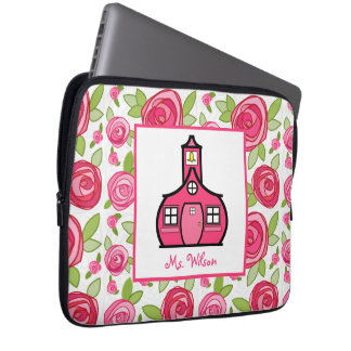 Floral Electronics Bag For Teachers Computer Sleeves