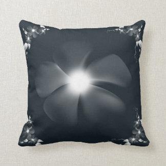 Floral Elegance: Dark Teal Throw Pillow