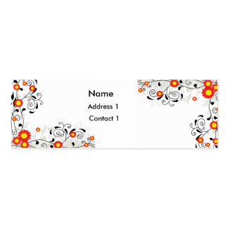 Floral Elegance Mini Business Card