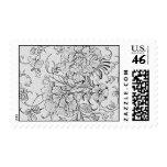 Floral Elegance Postage Stamps