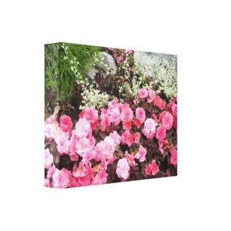 Floral Elegance Stretched Canvas Print
