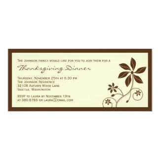 Floral Elegance Thanksgiving Dinner Invitation
