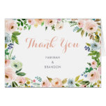 Floral Elegant Peonies Thank You Card