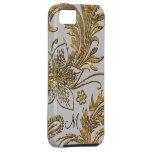 Floral elegante de la paloma de Breselcoucant iPhone 5 Protector