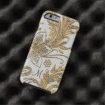 Floral elegante de la paloma de Breselcoucant Funda De iPhone 6 Tough