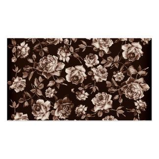 Floral elegante de la sepia del tono del vintage e plantilla de tarjeta de visita