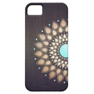 Floral elegante de madera elegante de la flor de iPhone 5 funda