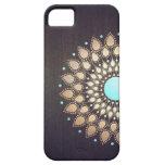 Floral elegante de madera elegante de la flor de L iPhone 5 Case-Mate Cárcasa