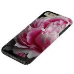 Floral elegante del Peony suave más Funda De iPhone 6 Plus Tough