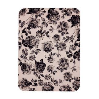 Floral elegante elegante de moda del vintage blanc imanes rectangulares