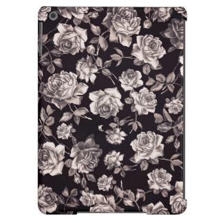 Floral elegante elegante de moda del vintage negro funda para iPad air