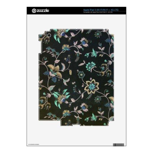 Floral elegante lamentable pegatinas skins para iPad 3
