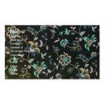 Floral elegante lamentable tarjetas de visita