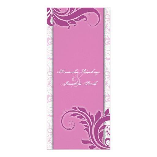 Floral elegante rosado atractivo blanco del progra lonas personalizadas
