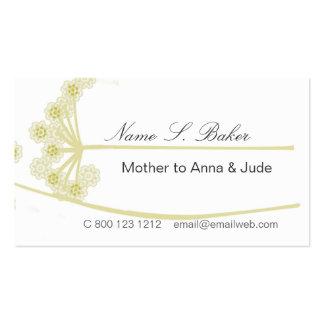 Floral elegante plantilla de tarjeta de negocio