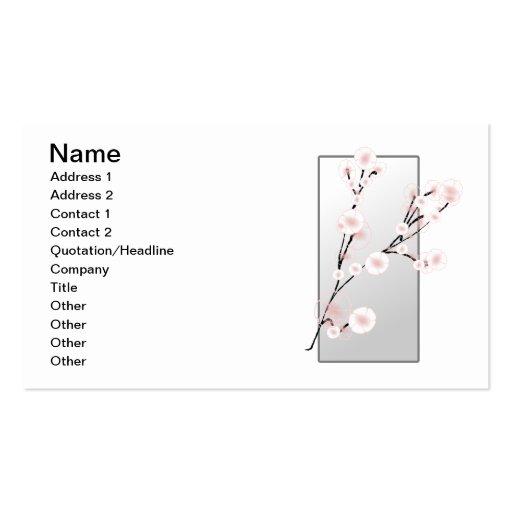 Floral elegante tarjetas de visita