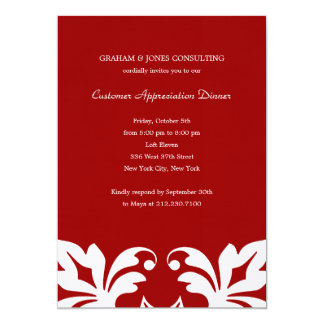 "Floral Elements Corporate/Business Party Invitatio 5"" X 7"" Invitation Card"