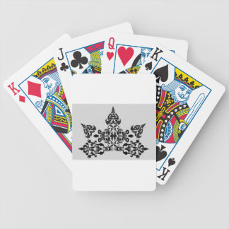 Floral elements bicycle playing cards
