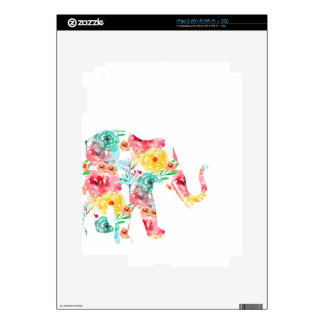 Floral Elephant Print Skin For The iPad 2