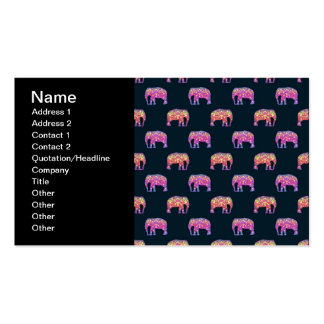 Floral Elephants Cute Girly Pattern Business Card