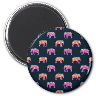 Floral Elephants Cute Girly Pattern Fridge Magnets