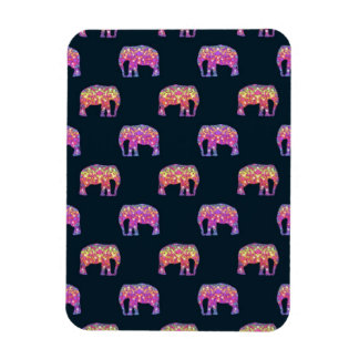 Floral Elephants Cute Girly Pattern Vinyl Magnets