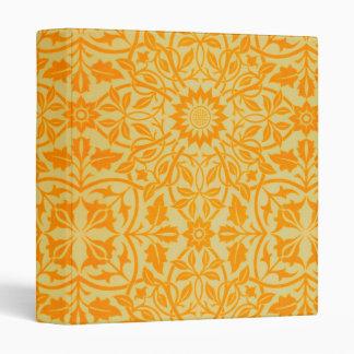 """Floral en naranja y oro carpeta 1"""""""