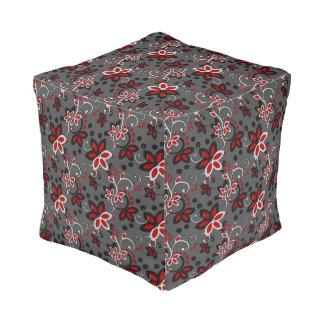 Floral Endeavors Cube Pouf