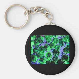 Floral Enigma 2 Basic Round Button Keychain