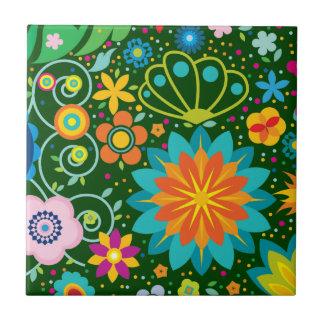 Floral enrrollado tejas  cerámicas