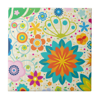 Floral enrrollado azulejos cerámicos