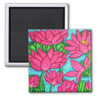 Floral enrrollado - imán de Lotus