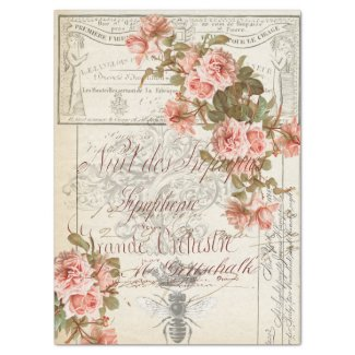 Floral Ephemera Decoupage Tissue Paper
