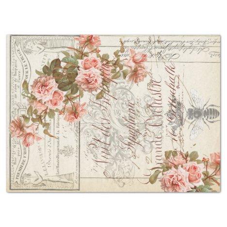 Floral Ephemera Decoupage Tissue Tissue Paper