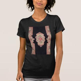 Floral esculpida camiseta