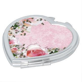 Floral Espejo Maquillaje