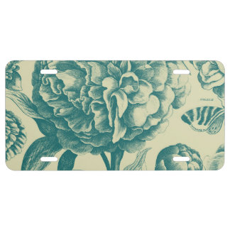 Floral Etchings License Plate