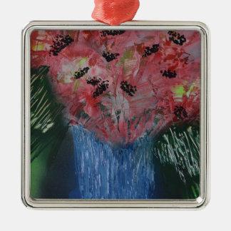 Floral Exhibition Exhibit Metal Ornament
