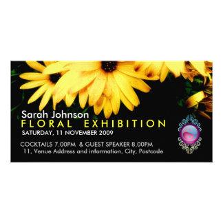 Floral Exhibition Promo Card Photo Card